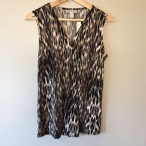 Dana Buchman NWT Sleeveless Animal Print Top